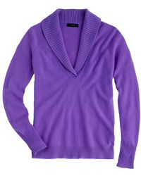 J.Crew Collection Cashmere Shawlcollar Sweater - Lyst