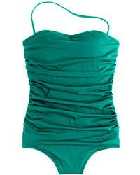 J.Crew Ruched Bandeau Tank - Lyst