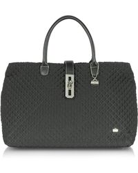 La Bagagerie Quilted Tote Bag - Black