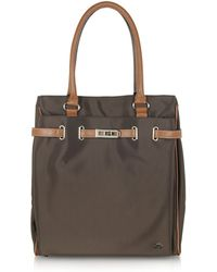 La Bagagerie Northsouth Nylon and Leather Tote Bag - Natural