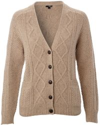 NW3 by Hobbs - Vintage Cable Cardigan - Lyst