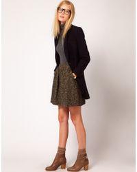 NW3 by Hobbs Nw3 Tweed Full Skirt - Brown