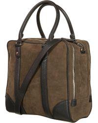 TOPSHOP - Double Zip Suedette Bag - Lyst