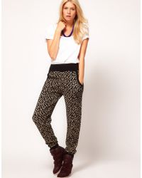 ASOS -  Knitted Jogger in Metallic Leopard - Lyst