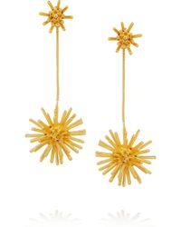 Aurelie Bidermann Condor Gold-Plated Clip Earrings - Lyst
