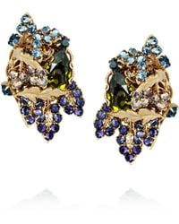 Bijoux Heart - 24karat Goldplated Swarovski Crystal Clip Earrings - Lyst