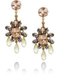 Bijoux Heart - Daisy 24karat Goldplated Swarovski Crystal Earrings - Lyst