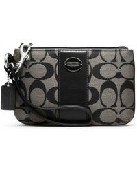 Coach Legacy Signature Small Wristlet - Lyst