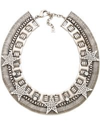 DANNIJO Melody Necklace silver - Lyst
