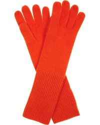 Duffy - Ribbed Cashmere Gloves - Lyst