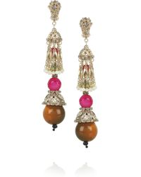 Etro Goldplated Resin and Crystal Clip Earrings - Lyst