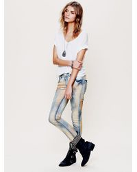 Free People Five Pocket Slim Slouch Jeans - Lyst