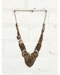 Free People Vintage Brass Necklace - Lyst