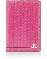 Lanvin Elaphe Cardholder - Pink