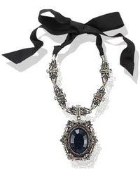 Lanvin - Small Barbara Pendant Necklace - Lyst
