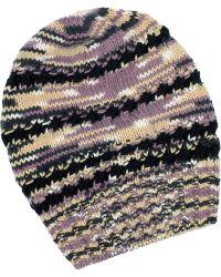 Missoni Oversized Cashmereblend Beanie multicolor - Lyst