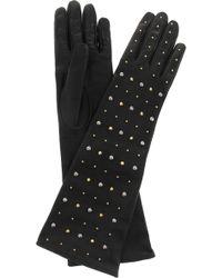 Miu Miu - Studded Leather Gloves - Lyst