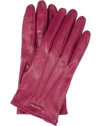 Miu Miu Leather Gloves - Lyst
