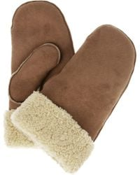 Mulberry   Shearling Mittens   Lyst