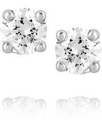 Spectrum - Mia 18karat White Gold Diamond Stud Earrings - Lyst