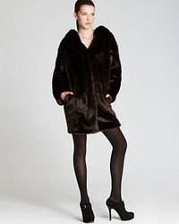 Thakoon Addition Faux Fur Hooded Coat  - Lyst