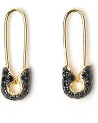 Tom Binns - Bejewelled Safety Pin Earrings - Lyst