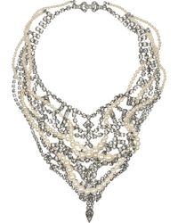Tom Binns - Regal Rocker Swarovski Crystal and Crystal Pearl Necklace - Lyst