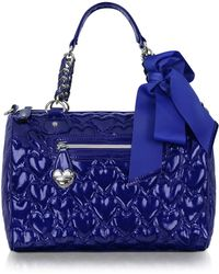 Betsey Johnson - Mine Yours Quilted Patent Eco Leather Satchel - Lyst