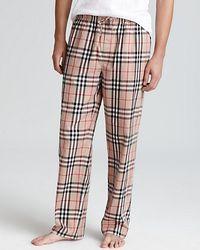Burberry Check Pajama Pants beige - Lyst