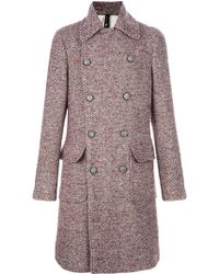 Chatcwin - Tweed Peacoat - Lyst