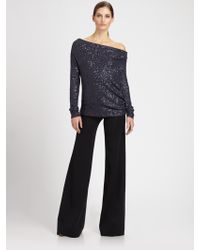 Donna Karan New York Pull-On Trousers - Lyst