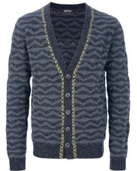 John Galliano - Patterned Knit Cardigan - Lyst