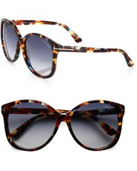 Tom Ford Alicia Round Acetate Sunglasses - Lyst