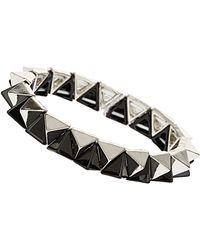 Topshop Two Tone Spike Bracelet - Lyst