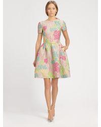 Valentino Jacquard Dress multicolor - Lyst