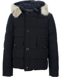 Woolrich Padded Jacket with Hood - Lyst