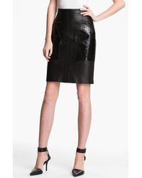 Alexander Wang Patch Pocket Leather Skirt black - Lyst