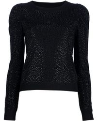 Alice + Olivia Embellished Sweater black - Lyst