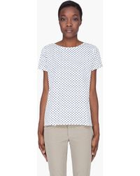A.P.C. Ivory Heart Print Tshirt - White