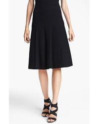Donna Karan New York Collection Flared Jersey Skirt - Lyst