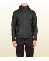Gucci Men's Gummy Leather Hooded Jacket From Viaggio Collection - Lyst