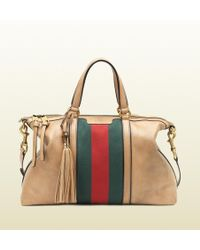 Gucci Leather Top Handle Bag - Lyst