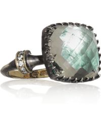 Larkspur & Hawk - Sophia Oxidized Sterling Silver Amethyst and Diamond Ring - Lyst