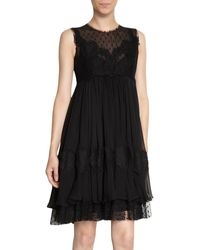 Dolce & Gabbana Lace Sleeveless Crewneck Dress - Lyst