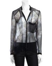 Helmut Lang Oxide Print Sheer Shirt - Lyst