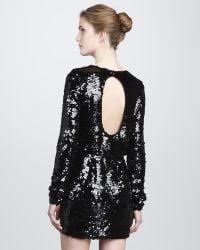 Rachel Zoe Selita Sequined Blouson Dress black - Lyst