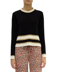 Marni Stripe Trim Sweater - Lyst