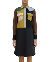 Marni Colorblock Shirt Dress - Lyst