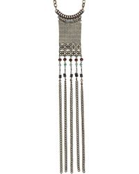 Topshop Pirate Bead Lariat Necklace - Lyst