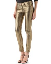 Washborn - Skinny Coated Jeans - Lyst